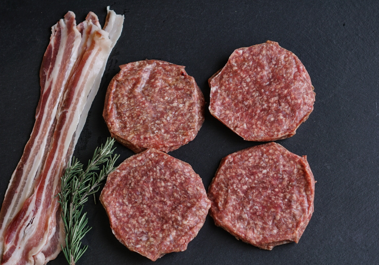 Large all Beef Bacon Burgers