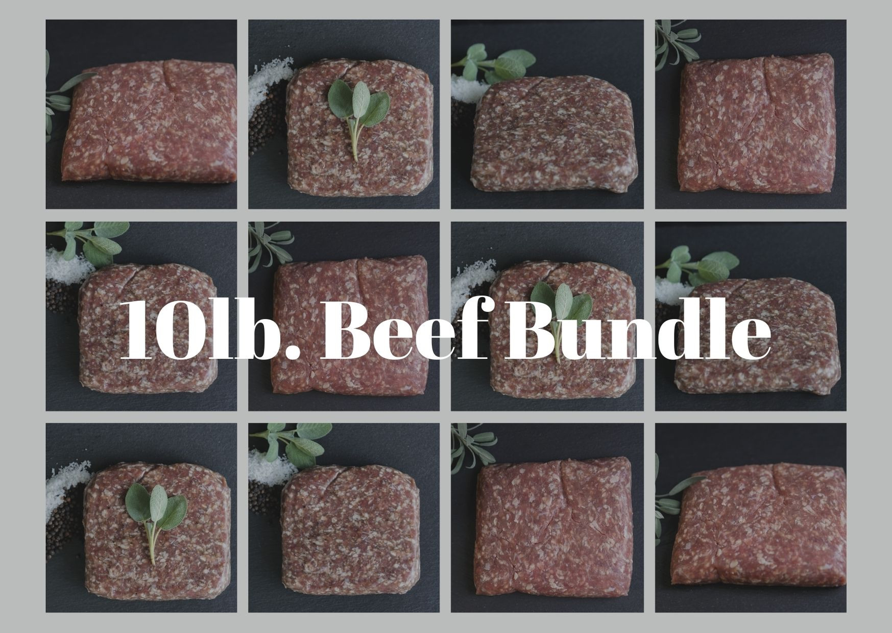10 lb Ground Beef Bundle