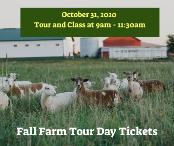 Fall Farm Tour Day Ticket - 1 Adult - Tour & Class 9am - 11:30am