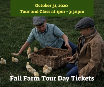 Fall Farm Tour Day Ticket - 1 Child- Tour & Class 1pm - 3:30pm
