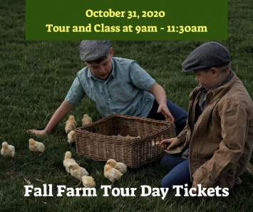 Fall Farm Tour Day Ticket - 1 Child- Tour & Class 9am - 11:30am