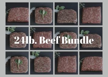 24 lb Ground Beef Bundle
