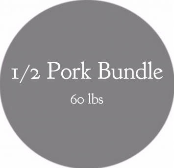 1/2 Pork Bundle- 60 lbs (PREORDER)