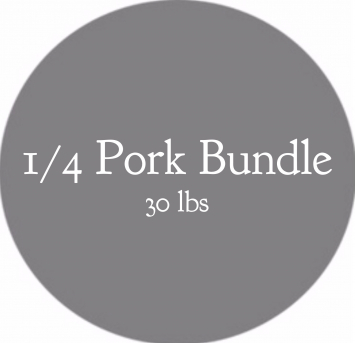 1/4 Pork Bundle- 30 lbs (PREORDER)