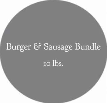 Burger & Sausage Bundle- 10 lbs