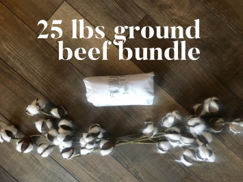 Ground Beef Bundle - 25 lb