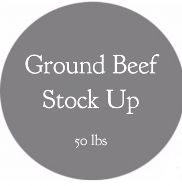 Ground Beef Stock Up Bundle- 50 lbs