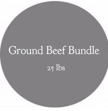 Ground Beef Bundle - 25 lb