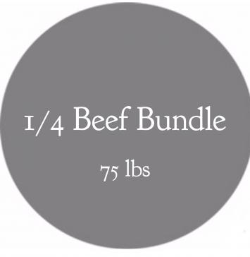 1/4 Beef Bundle-  75 lbs