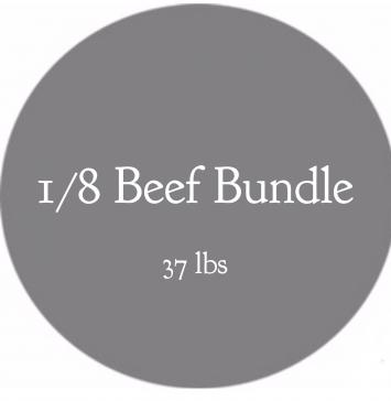 1/8 Beef Bundle- 37 lbs