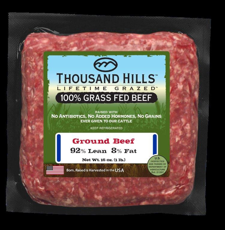 92% Lean Ground Beef Bricks - Case