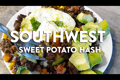 Southwest Sweet Potato Hash ft Thousand Hills Ground Beef