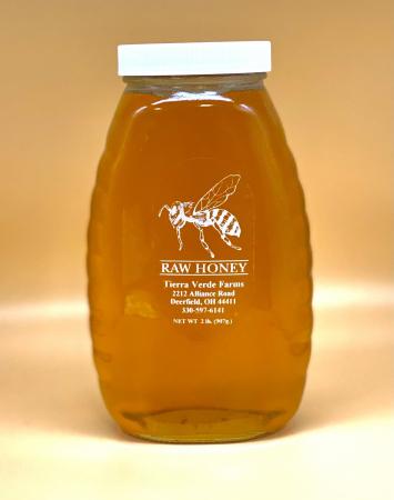 Raw Honey 2 lb Bottle - Glass
