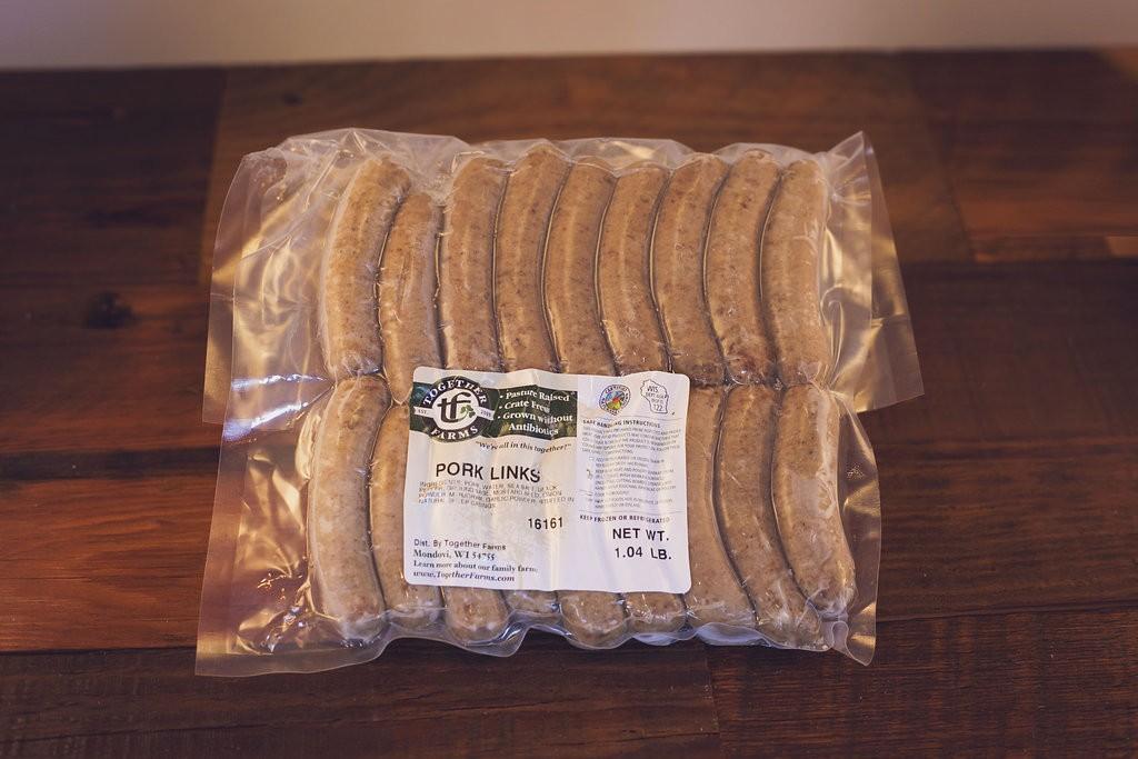 Pork, Breakfast Sausage, Links