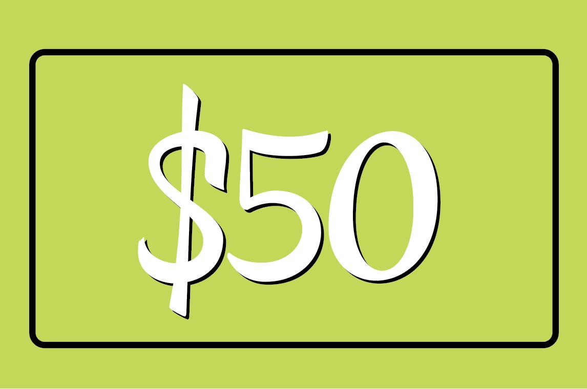 TF Gift Card: $50
