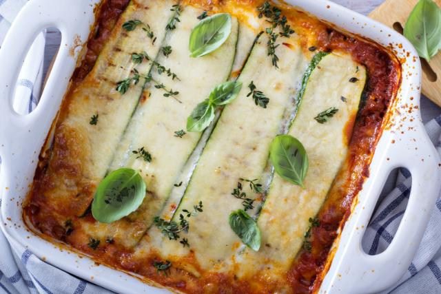 "Zucchini ""Lasagna"" Freezer Meal"