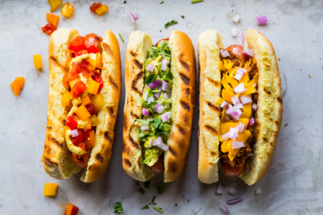 Bratwurst with Cabbage and Apple Slaw