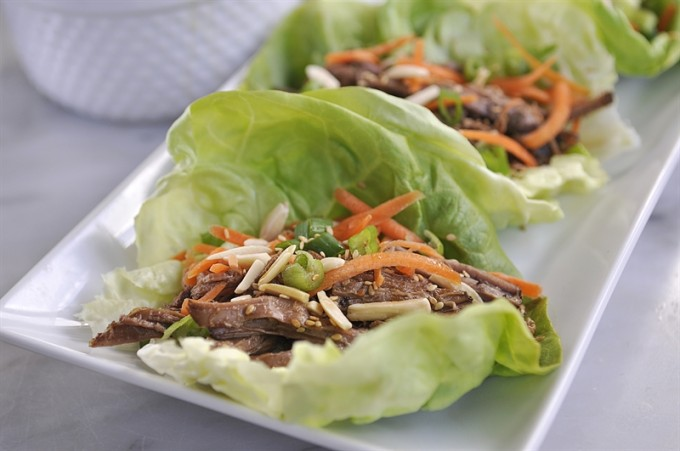 Korean Beef Lettuce Wraps Freezer Meal