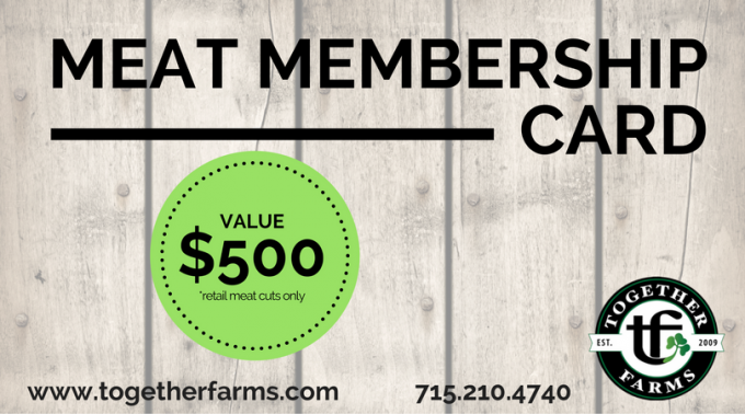 Meat Membership Card - $500