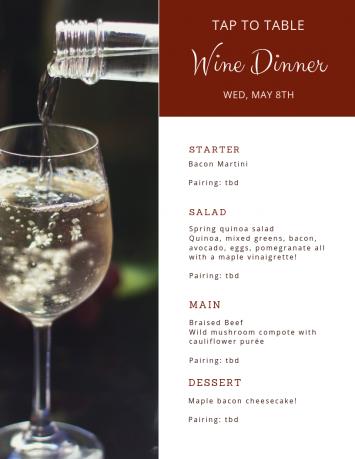 Wine Wednesday Ticket, May 8