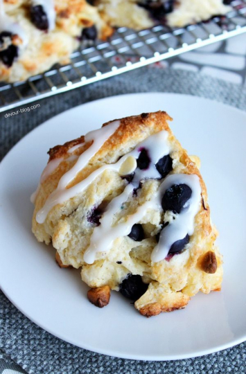 Homemade- Blackberry White Chocolate Scone