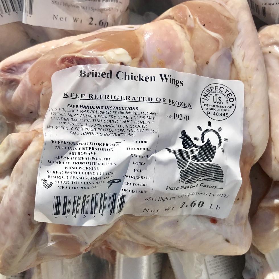 Pastured Chicken Brined Wings