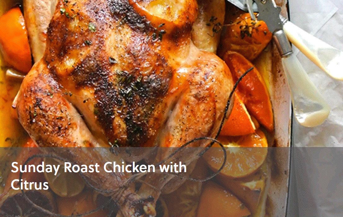 Sunday Roast Chicken with Citrus