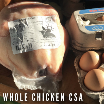 6 Month CSA Pastured Chicken Package 200 lb (2 chicken per wk avg)