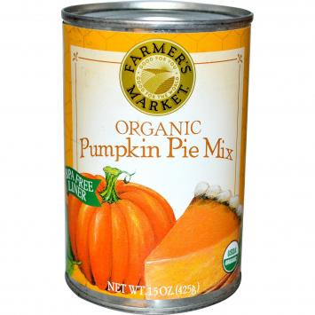 Organic Canned Pumpkin, 15 oz