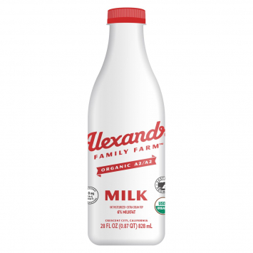 Alexandre Family Farm Whole Milk, A2, 6%, 28 fl oz
