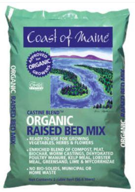 Castine Organic Raised Bed Mix - 2 cu. ft. bag