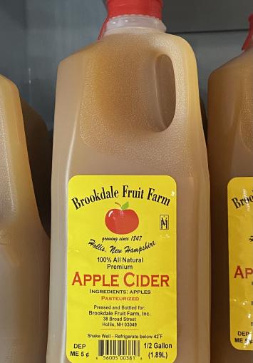 Apple Cider, Half gallon