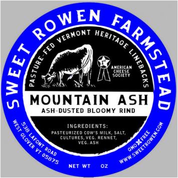 Sweet Rowen Farmstead - Mountain Ash Cheese