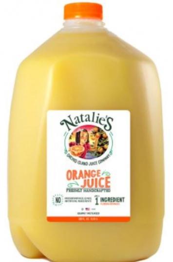 Natalie's orange juice gallon