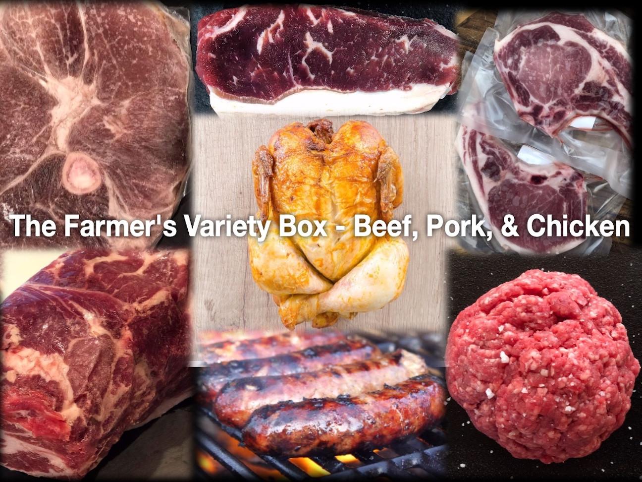 Farmer's Variety Box - Beef, Pork & Chicken - Medium
