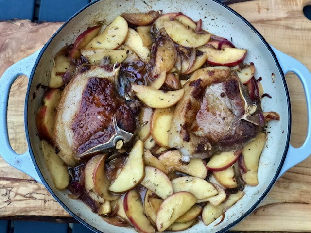 Fall Pork Chops with Apples