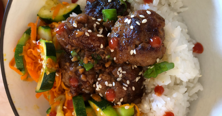 Pork Teriyaki Meatballs