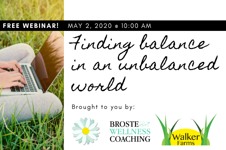 FREE HOLISTIC HEALTH WEBINAR: Finding Balance in Unbalanced Times
