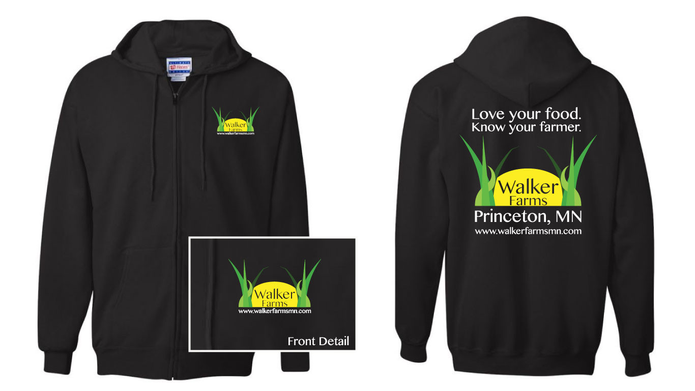 Walker Farms Hoodie - Love your food. Know your Farmer.
