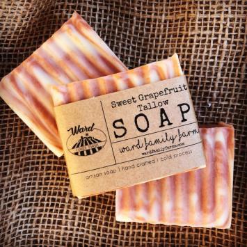 Sweet Grapefruit Tallow Soap