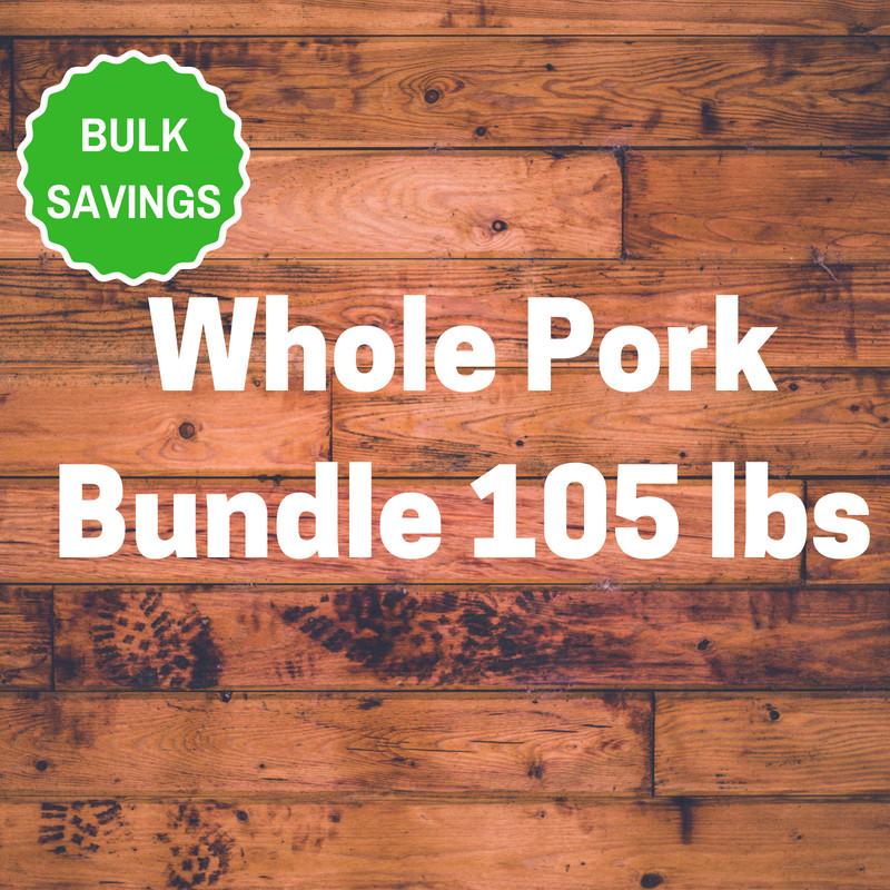 Whole Pork Bundle 105 lbs