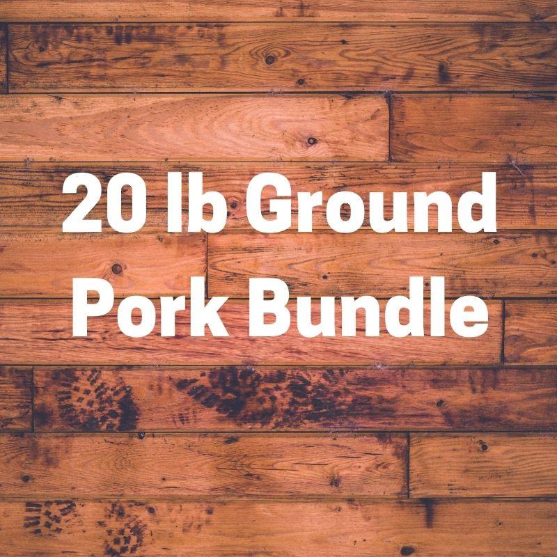 MIXED Ground Pork Bundle 20 lbs