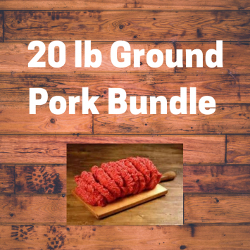 MIXED Ground Pork Bundle 20 lbs
