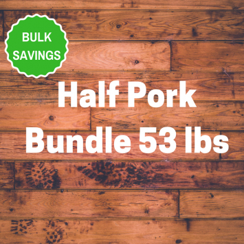 Half Pork Bundle 53 lbs