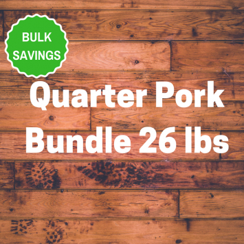 Quarter Pork Bundle 26 lbs