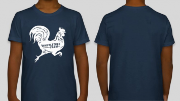 Youth Jersey T-shirt (Navy With Chicken Logo) YOUTH SMALL / 8