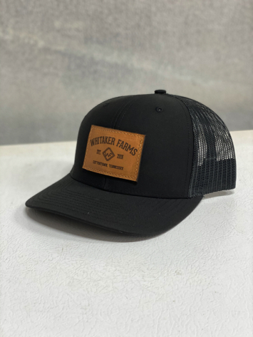 Leather Black Hat