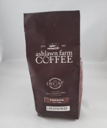 """Ashlawn Farm """"French Roast"""" - Ground (DECAF)"""