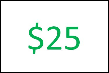 $25 ONLINE STORE Gift Card