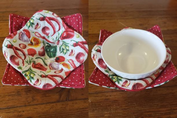 Bowl Cozy Set - Vegetables (Red) - (Bowl Not Included)